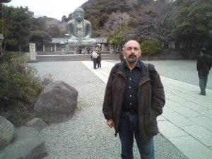 За спиной автора - Большой Будда в Камакуре