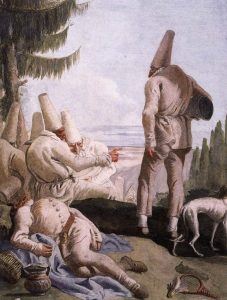Фреска «Пульчинеллы» Д.Тьеполо