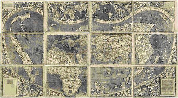 Карта Вальдземюллера, 1507 год
