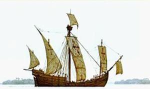 Каравелла-армада (caravelas de armada) могла достигать 180 т грузоподъемности и нести до 40 пушек