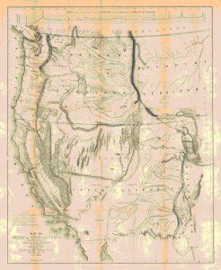 Карта Калифорнии и Орегона 1848 года, составленная Фримонтом