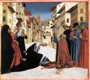 Доменико Венециано. «Св. Зиновий являет чудо»