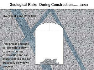 а)многочисленные трещины и вывалы пород — главные проблемы во время строительства, которые могут привести к аварии