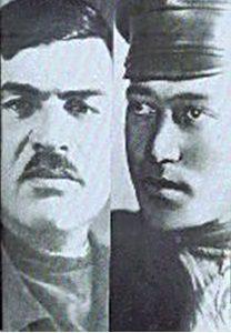 Глава расстрельной команды Яков Юровский и его заместитель Григорий Никулин