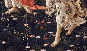 фрагмент картины «Весна». Боттичелли.