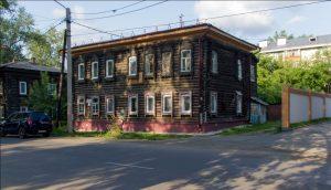 Дом на ул. Тверская, 26, в котором жила семья Вяткиных в Томске в начале ХХ века, Фото 2014 г.