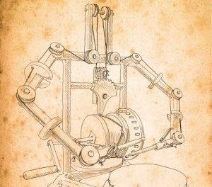 Робот Хирурга. Чертеж Леонардо да Винчи