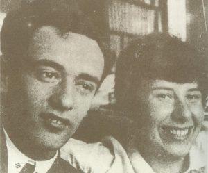 Лев Ландау и Женя Пайерлс (урожденная Каннегисер), 1929 год.