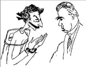 Сцена из ch-дискуссий в Копенгагене, глазами и рукой Г. Гамова