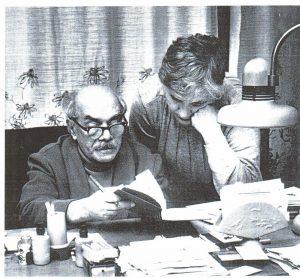 11. Давид Самойлов с женой Галиной Медведевой, Пярну, середина 80-х