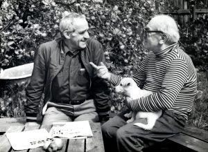 13. Давид Самойлов и Зиновий Гердт, Пярну, середина 80-х