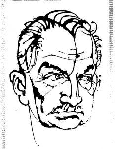 21. Борис Слуцкий, рис. М. Лисогорского