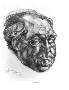 23. Борис Слуцкий, рис. Б. Жутовского, 1974