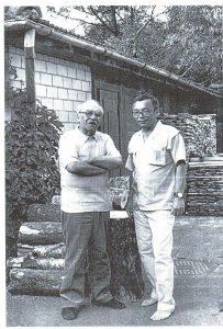 8. Давид Самойлов и Юлий Ким в Пярну, 1980-е годы