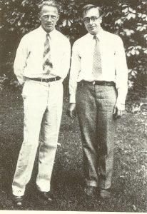 Вернер Гейзенбрг и его американский коллега Грегори Брейт во время Летнего мичиганского симпозиума в Энн Эрбор, 1932 год.