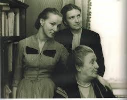 А. Каминская, А. Ахматова, И. Пунина, 1958 г.