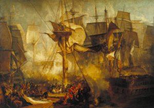 «Трафальгарская битва» Тёрнера, 1808 г., масло;