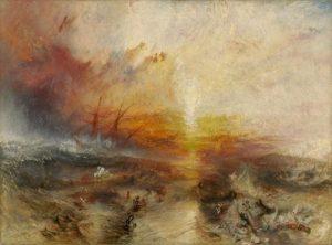 «Невольничий корабль» Тёрнера, 1840 г., масло; Музей