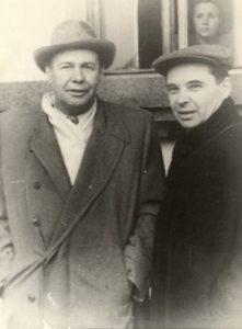 Профессора Д.И. Блохинцев и Д.Д. Иваненко (начало 50-х годов)