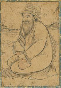 11. Сидящий дервиш, миниатюра XVI века