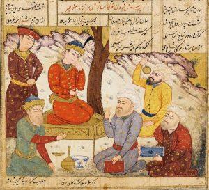 15.Иллюминированная страница поэмы Фирдоуси «Шах-намэ», 1493-4 г.