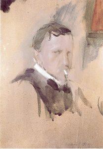 В.А.Серов. Автопортрет. 1901.