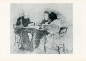 М.А.Врубель. Семья Я.В.Тарновского за карточным столом.1887