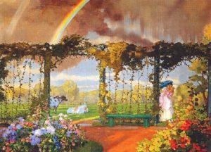 К.А.Сомов.Пейзаж с радугой.1915