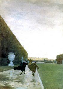 А.Н.Бенуа. Версаль. Король гуляет в любую погоду.1898