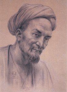 25. Муслихаддин Абу Мухаммед Абдаллах ибн Мушрифаддин (Саади) — современный рисунок