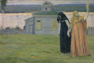 М.В.Нестеров. В скиту. 1915