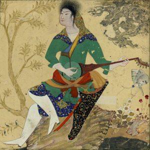 26. Мухаммад Джафар. Музыкант с рубабом, ~ 1590