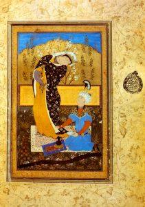 Абдулла. Влюбленные. Иллюстрация к дивану стихов Саади «Бустан», 1575 г.