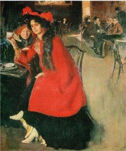 А.А. Мурашко. В кафе.1902