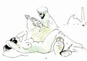 36. Рисунок Павла Бунина к стихам Хайяма