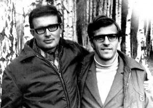 А.Б.Успенский (слева) и Б.А.Гришанин (1968). Рис.