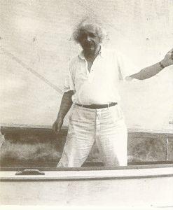 Альберт Эйнштейнна яхте в 1934 г.
