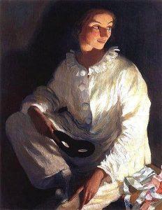 З. Серебрякова. Пьеро. Автопортрет...