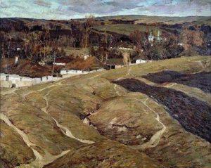 С. Колесников. Деревня.1907