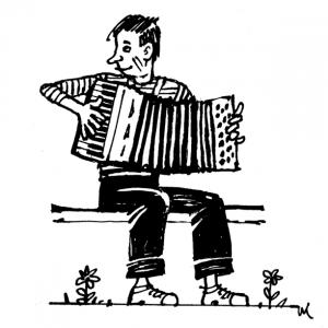 Лагерный аккордеонист Лёша