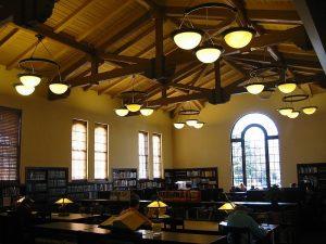 Библиотека в Бурлингейме. Главный читальный зал