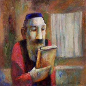 И. Островский. Еврей с книгой