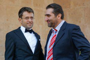 Автор (справа) с с Левоном Ароняном. Фото сделано на свадьбе Левона (Ереван, 2017)