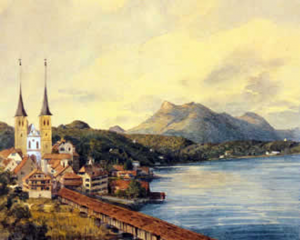 No.12: Ф. Мендельсон, Церковь в Люцерне, Швейцария, 1847 (Church in Lucerne, Switzerland)