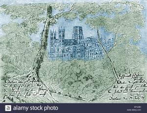 No.6: Ф.Мендельсон, Кафедральный Собор в Дaрeме, Шотландия 1829 Durham castle