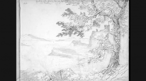 No.7: Ф. Мендельсон, Вид на Гибридские острова и Дaнoльский Замок Sketch of view towards the Hibrides and Dunollie Castle (from tapatalk.com)
