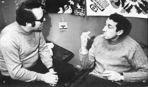ФОТО № 3. Наш с Серёжей разговор «для газеты». 1978-й.