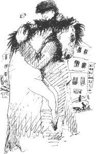 А. Тышлер. Рисунок к стихотворению Маяковского «Хорошее отношение к лошадям»