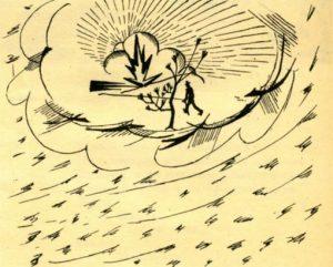 Человек, шагающий за солнцем — последний рисунок Маяковского, 1930