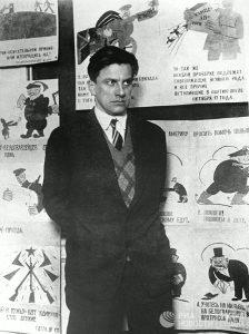 Маяковский на выставке «20 лет работы», фото — февраль 1930 г